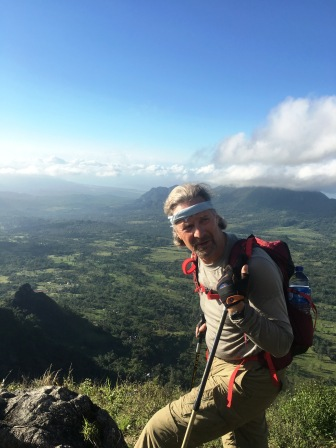 David on the ascent of Matebean (Nicholas Hughes, July 2018)