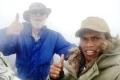 Nick and fellow climber on true summit of Matebean (Nicholas Hughes, July 2018)