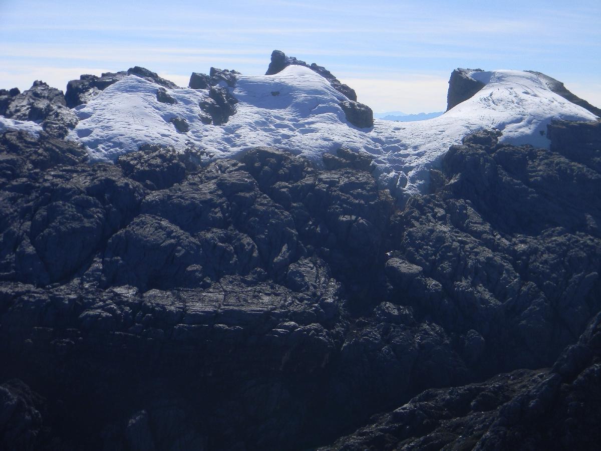 Sumantri and Puncak Jaya from Carstensz summit ridge (Robert Cassady, 2010)