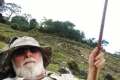 Nick with walking stick on the descent of Mundo Perdido (Nicholas Hughes, July 2018)