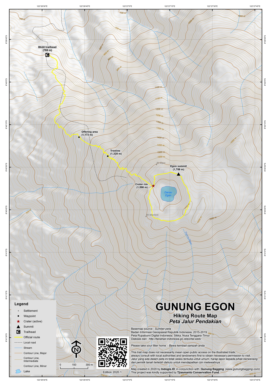 Peta Jalur Pendakian Gunung Egon