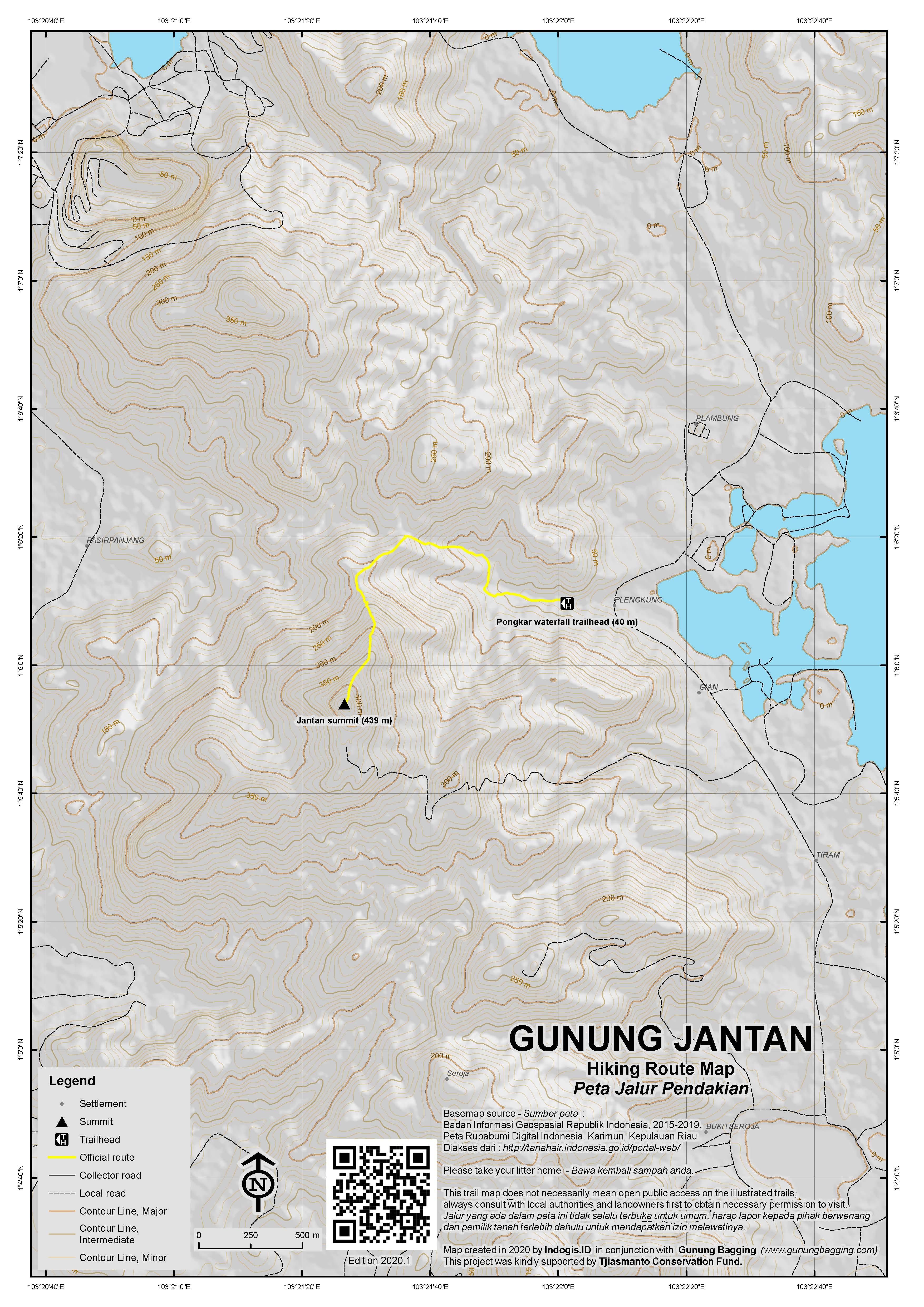 Peta Jalur Pendakian Gunung Jantan