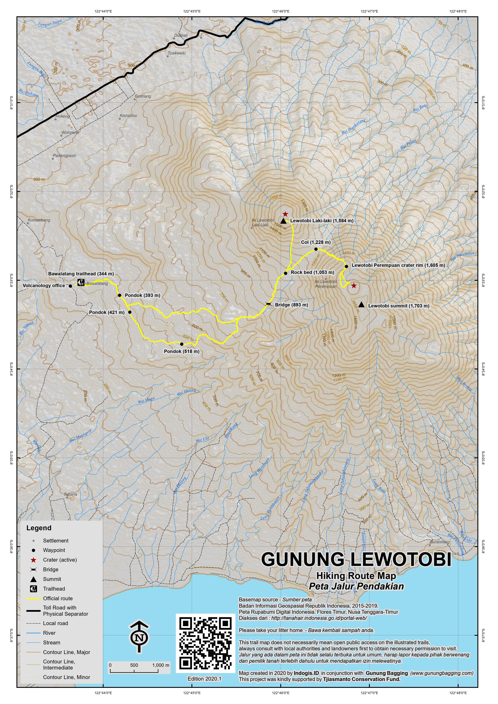 Peta Jalur Pendakian Gunung Lewotobi