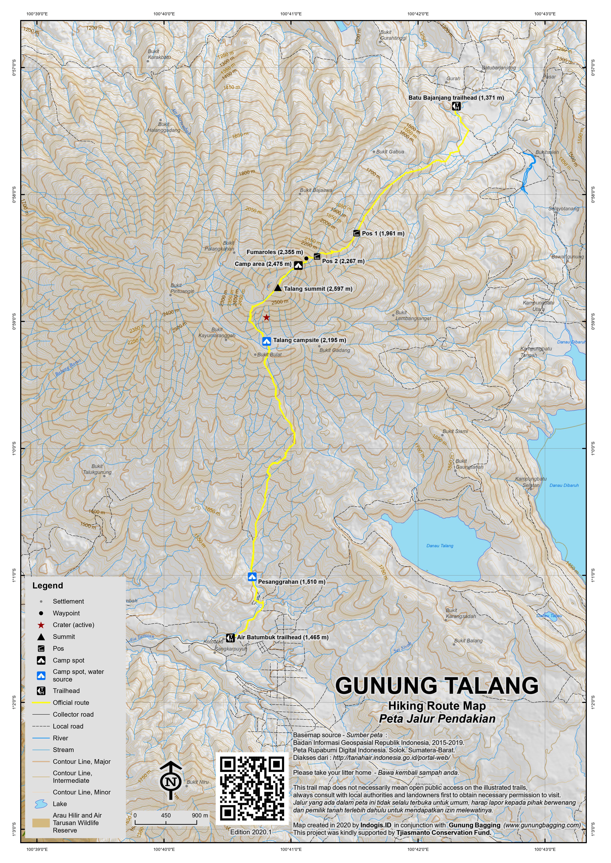 Peta Jalur Pendakian Gunung Talang