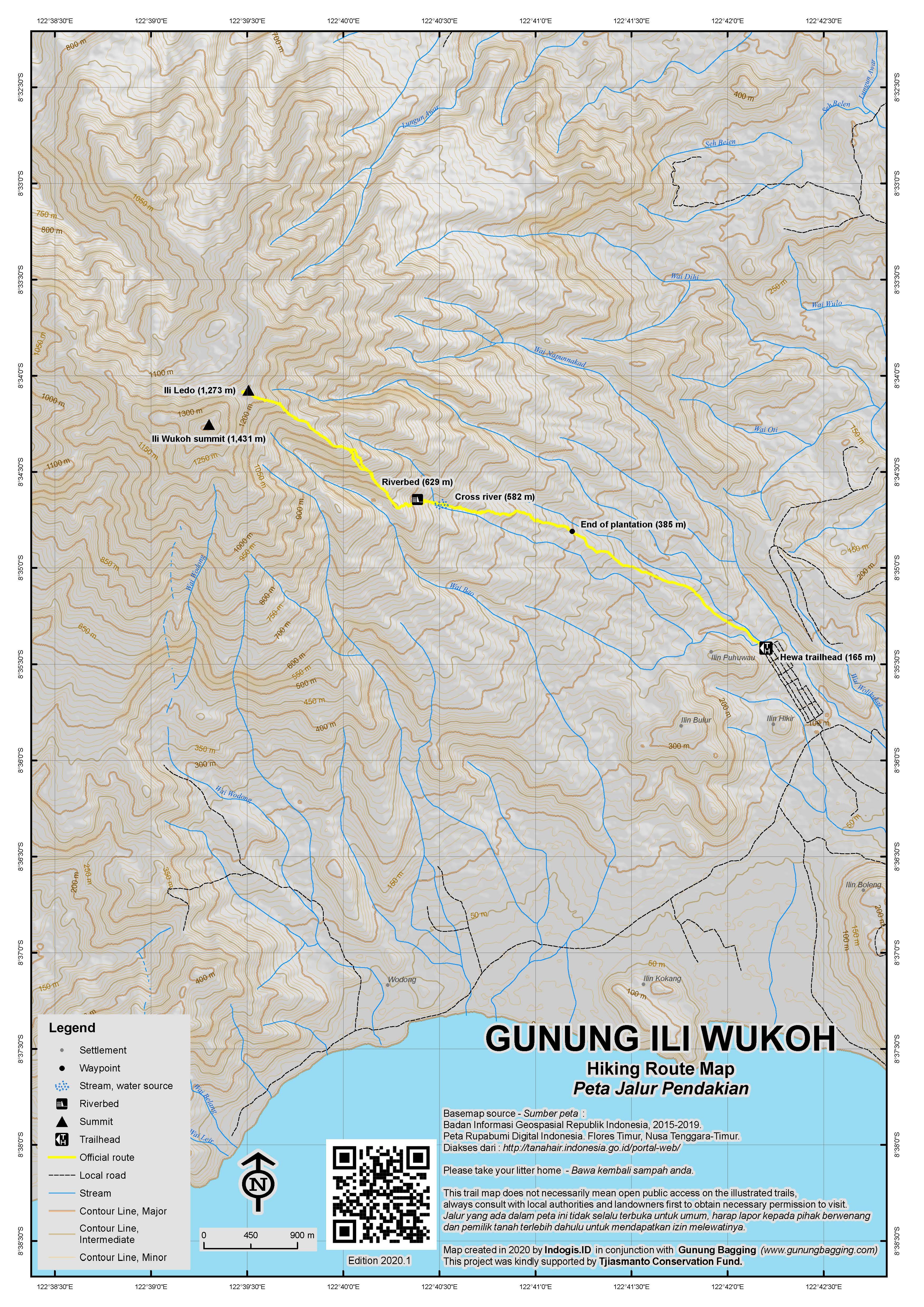 Peta Jalur Pendakian Ili Wukoh